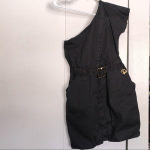 🌸2/$10 Off the Shoulder Black Mini Dress, Size M